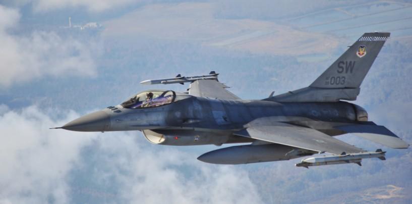 Patru avioane F 16 vin la Câmpia Turzii