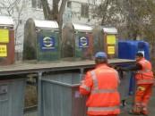 Containerele de gunoi subterane au fost inaugurate astăzi de administrația locală