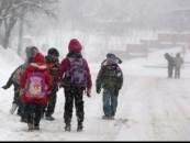 Școli închise din cauza vremii în județul Cluj