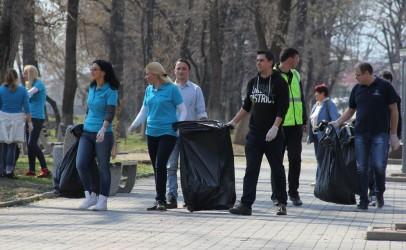 Acțiune de curățenie CAA în Parcul Central