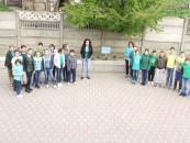 Spațiul verde proiectat și realizat de elevii școlii
