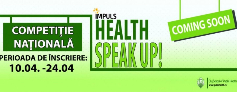 """Elevii de liceu sunt invitați la concursul """"Health Speak Up"""""""