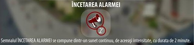 incetare alarma