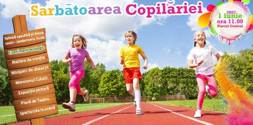 Sărbătoarea copilăriei în parcul central din Turda