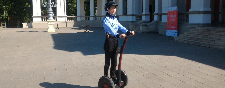 Premieră la Cluj: Polițiștii transportați de roboți