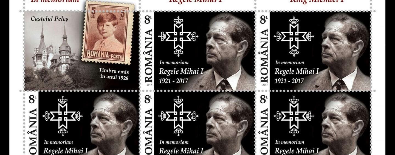 """Timbre """"In memoriam"""" Regele Mihai scoase la vânzare în Cluj"""