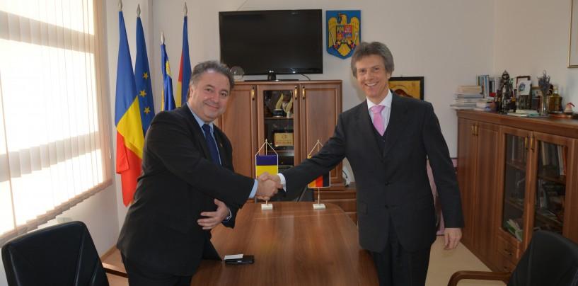 Consulul Germaniei la Sibiu, în vizită la Consiliul Judeţean Cluj