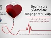 Miercuri – campanie de donare de sânge la Turda