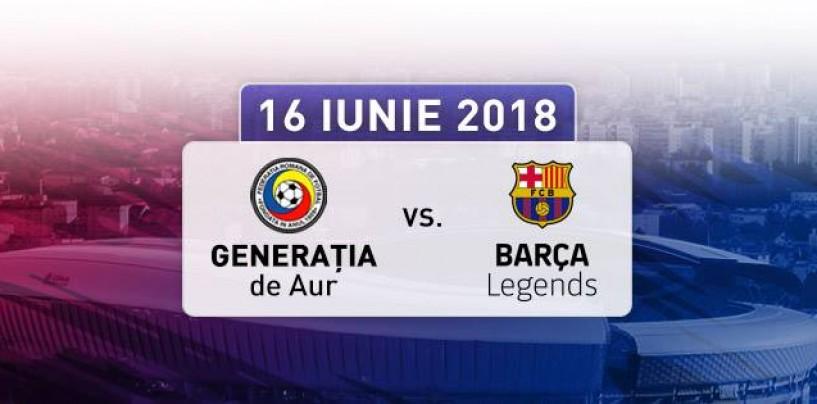 Legendele Barcelonei şi Generaţia de Aur a României vin la Cluj Arena