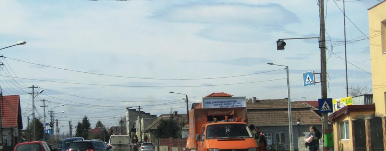 Harababură în Câmpia Turzii. Circulația blocată din cauza marcării străzilor