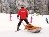 Salvamontiștii au intervenit în 57 de de accidente pe pârtiile de schi