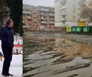 Primarul Turzii se relaxează pe pârtiile din Elevția în timp ce alegătorii lui înoată în noroaie