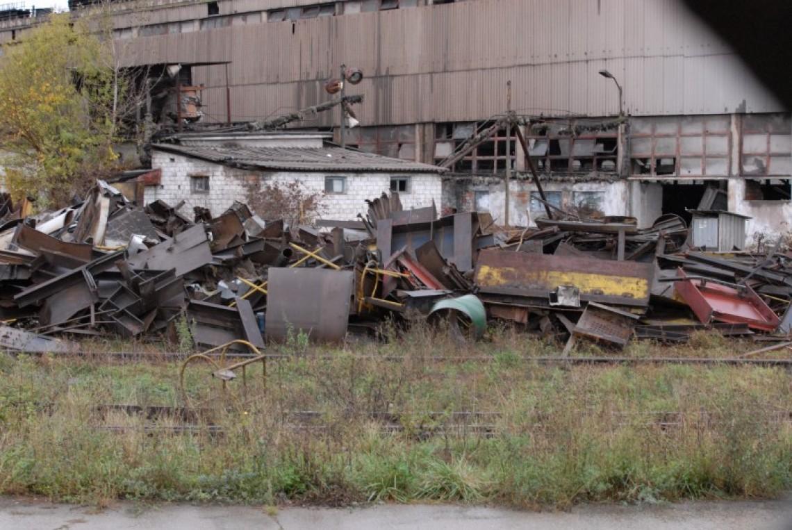 Combinatul Metalurgic, ruin� pentru fier vechi