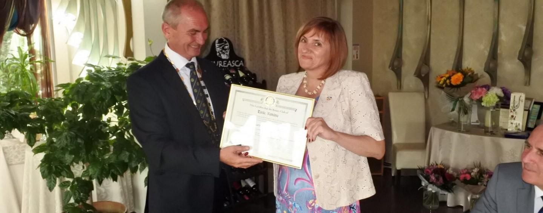Prima femeie președinte din istoria Rotary Club Turda și-a intrat vineri în drepturi