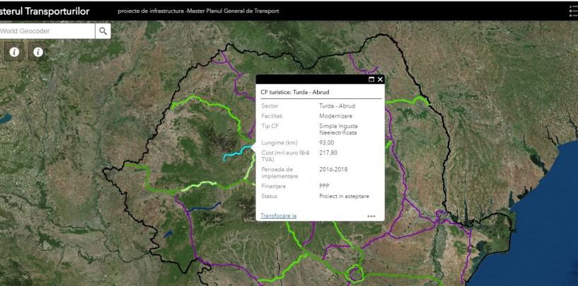 Turda pe harta interactivă a Master Planului de Transport