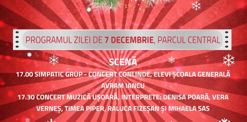 (P) Programul Târgului de Crăciun în 7 decembrie