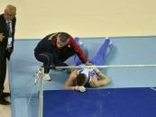 Sportiv român accidentat la Campionatele Europene de Gimnasticã de la Cluj