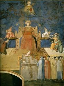 Buna Guvernare, potrivit algoriei lui Lorenzetti,  stă sub semnul Justiției, condusă de Înelepciune și echilibrată de Concordie.