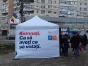 USR Turda:  Poliția Locală a ridicat abuziv cortul USR. Incidentul vine după critici directe la adresa primarului