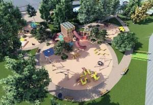 Zona centrală de activități a viitorului parc turdean