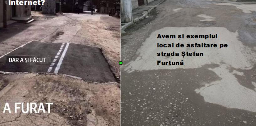 """""""Zâna Asfaltărilor"""".  Locuitorii din Turda Nouă ironizează administrația Matei"""