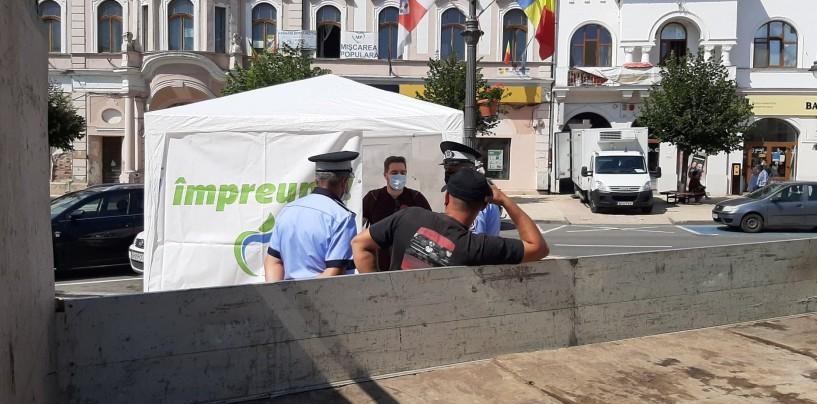 PMP acuză că sunt hărțuiți de administrația locală. PNL n-a rezistat lângă cortul PMP